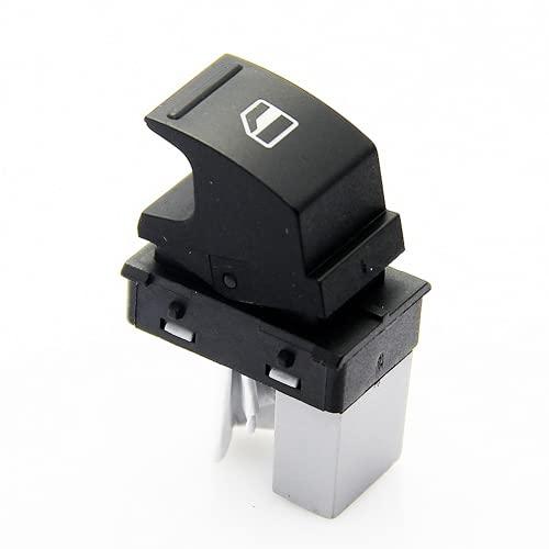 Xiyuncao Botón de Interruptor de Ventana eléctrica de Coche, Interruptor de elevación de Ventana de Coche, para VW Golf Jetta Passat Polo Seat 7L6959855B