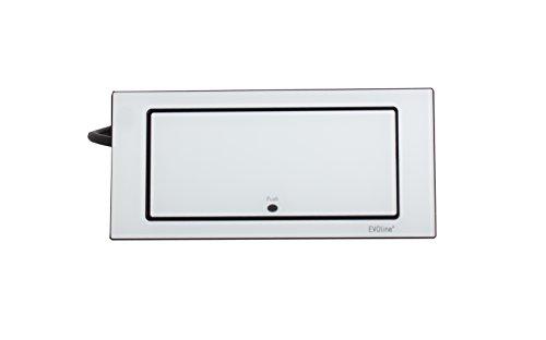 Schulte 1592 7100 1800 EVOline Backflip, 2 Schukosteckdosen, 1 STK. USB-Charger, Glas weiß, 5 V