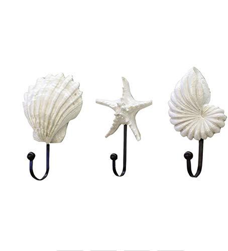GYJCD Resina Ganchos de Pared mar de la Estrella de mar en Forma de Estilo mediterráneo Estilo de Ropa Capa de la Percha de la Percha de la Percha de la Toalla de la Toalla