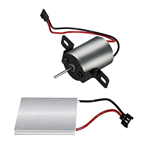 FLAMEER Motor de Ventilador de Chimenea de Metal para sopladores de Estufa,...
