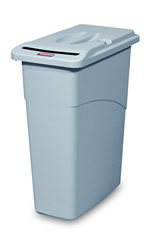 Rubbermaid Commercial Products FG9W1500LGRAY Slim Jim Waste Confidential...