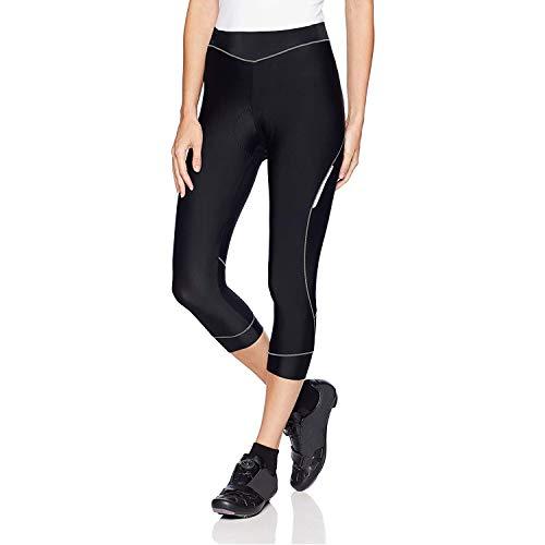4ucycling Women 3D Padded Breathable ¾ Cycling Biking Shorts,UPF 50 Women's Running Pants, Women's Capri Bike Tights