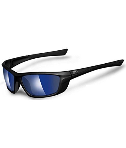 Gafas de sol de hielo polarizadas CAT 4 de goma extensible negro 100 % UV bloqueo Sunglasses polarizado