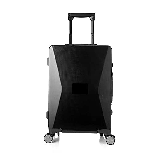 LLKK Maleta de viaje de carga de teléfono móvil de gama alta Viaje de negocios de embarque inteligente Maletas de equipaje de 20 pulgadas de desbloqueo de huellas dactilares caso de equipaje solar