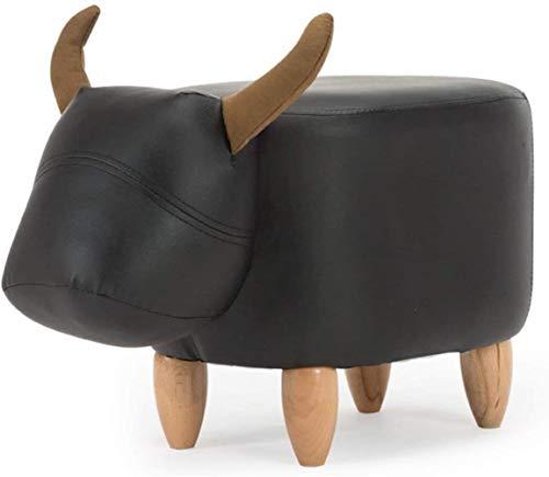 FZWAI Kalf kinderen dier schoenen bankje bank thuis ontlasting klein Holzhocker massief houten bank kruk (Gr ?? e: 60 × 34 × 36 cm)