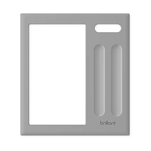 Brilliant Snap-On Frame (Black 2-Switch Panel) for Brilliant Smart Home Control — Frame Only