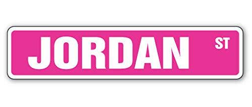TammieLove Jordan - Cartello Stradale per Interni ed Esterni, 40 x 10 cm