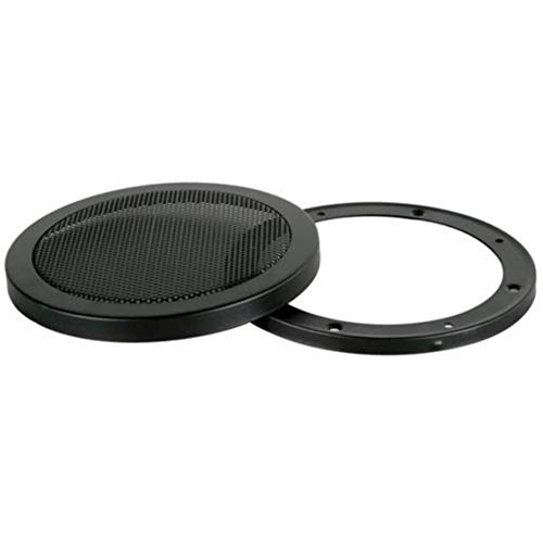Steel Mesh 2 Piece Grill for 6 1/2 Speaker Black Sold Individually