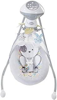 Cuna y balancín Sweet Snugapuppy Dreams Cradle n' Swing, color blanco, de la marca Fisher-Price
