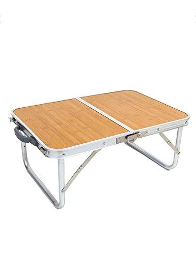 Feifei Alliage d'aluminium Portable Table Pliable Tables de Camping extérieures Type d'épaississement Ultra-léger Table de ménage Paresseux Bureau d'ordinateur économiser de l'espace (Couleur : A)