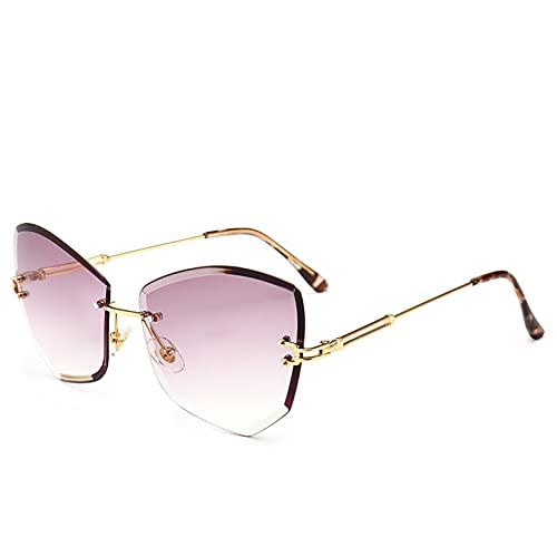 LUOXUEFEI Gafas De Sol Gafas De Sol Sin Montura Hombres Mujeres Gafas De Sol Mujeres Lentes Sombras Gafas Gafas De Sol