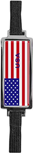 Schmucklesezeichen aus Metall mit gerader Kontur | Flagge USA #9923020