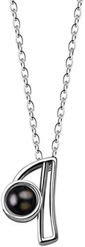 Collar Te Amo Collar 100 Idiomas Collar Letra Collar Amor Memoria Proyección Colgante Collar para Mujeres Regalos del Día de la Madre
