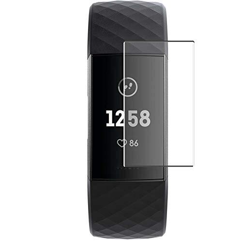 Vaxson 4 Unidades Protector de Pantalla, compatible con Fitbit charge 3 charge3 [No Vidrio Templado] TPU Película Protectora