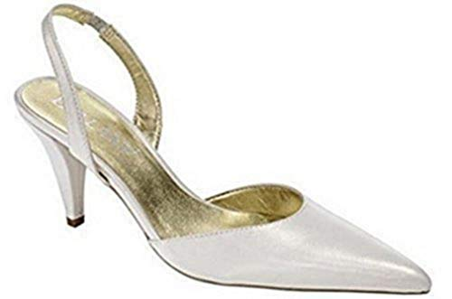 CHILLANY Elegante Pumps Slingpumps Leder in Ecru Gr. 36