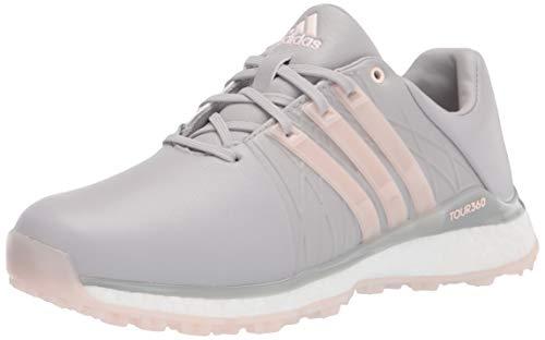 adidas Women's Tour360 XT Spikeless Golf Shoe Glory Grey/Pink Tint/Silver Metallic 6.5 M