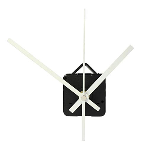 Hefu ☪ Quartz Clock Movement Mechanism DIY,Repair Replacement Parts with Hour/Minute/Second Hand (White)