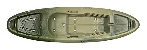 """perception Kayaks Zip 9.5, Sit on Top Kayak for All-Around Fun, Stable and Fast, Rear Storage with Tie Downs, 9' 6"""", Classic Camo"""