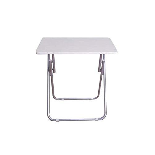Mesa de centro Mesa plegable portátil pequeña mesa de reuniones Oficina de Formación mesa de negociación mesas de estudio simple escritorio del estudiante Tablas de café pequeñas ( Color : White )