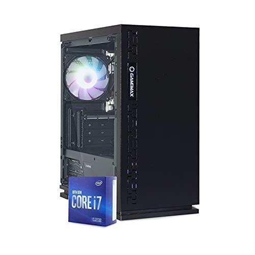 Mak Office S Plus – Ordenador de sobremesa Intel i7 10700 8 Core 4,70 GHz Turbo, SSD 240 GB + HDD 1000 GB, RAM 16 GB DDR4, ordenador de oficina doméstica, Dad, HDMI Windows 10, PC montado I7