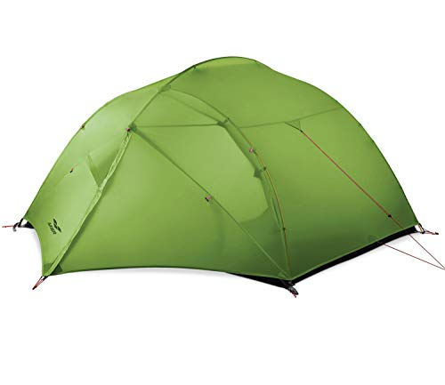 MIER 3 Person Camping Tent Lightweight Outdoor Backpacking Tent with Footprint, Waterproof and Easy Setup, 4 Season, Dark Green
