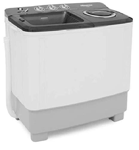 Hisense WSA1102PD - Lavadora Semiautomática, 2 Tinas, 11 kg Lavado/5,5 kg Centrifugado, Color Blan
