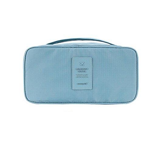 DELEY Portable Imperméable Soutien-Gorge Organisateur Bag Cosmétiques Sac De Rangement Bleu