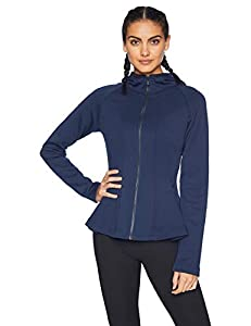 Core 10 Women's Motion Tech Fleece Fitted Peplum Full-Zip Hoodie Jacket