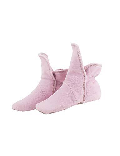 RAIKOU Hausschuhe für Damen, Herren aus Micro Fleece mit ABS und Rutschfester Sohle Größe,Super Flauschige Hüttenschuche (40-43, Rosa)