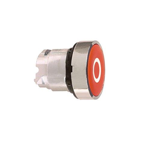 Schneider ZB4BA432 Frontelement rund für Drucktaster, ohne Rastung, flach, O, Rot, durchmesser 22 cm