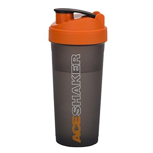 Jaypee Plus Ace Plastic Shaker with Blending Ball, 700 ml, 1 Shaker, 1 Ball, Orange