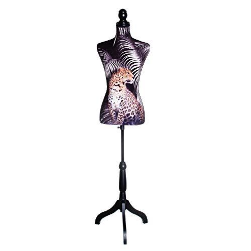 Maniquí de Costura exótico Negro de DM y Foam de 160x23x37 cm - LOLAhome
