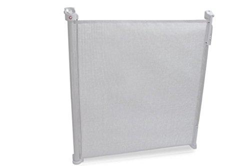 Lionelo 5902581650825 Tulia Baby Tür-u. Treppenschutzgitter hellgrau Absturzsicherung Rollo, Weiß