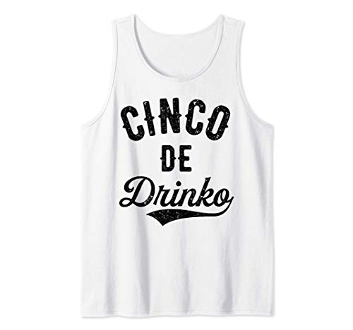 Cinco de Drinko Mayo Mexican Men Women Drinking Tequila Lime Camiseta sin Mangas