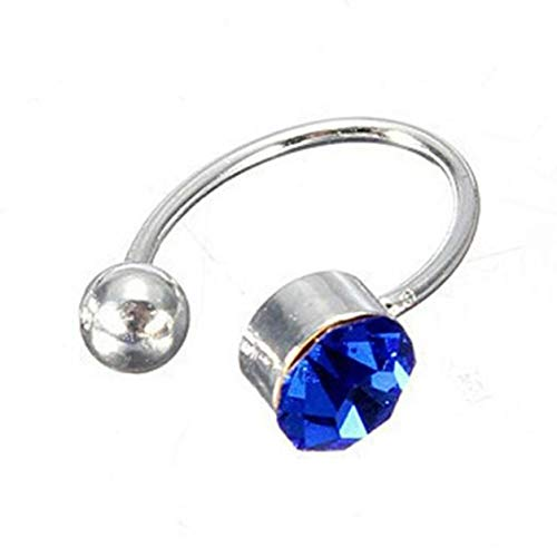 Kongqiabona-UK Personliga örhängen U-formade utan öronhåltagningar Öronklämma Strass Unika kvinnor klämmer fast på smycken på hängkroppen