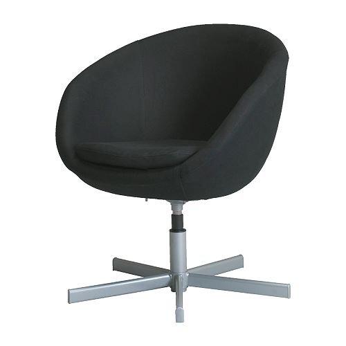 IKEA SKRUVSTA - Poltrona girevole, Alme nero