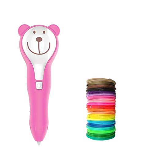 YOBAIH 3D Pen Printing Drawing Scribble Printer Wireless And Low Temperature With Colorful Filament For Kids Pencil 3d Printing Pen (Size : Pink 109m PCL)