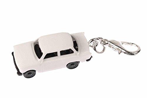Miniblings Trabbi Auto DDR Charm Trabant Trabi weiß - Handmade Modeschmuck I Kettenanhänger versilbert - Bettelanhänger Bettelarmband - Anhänger für Armband