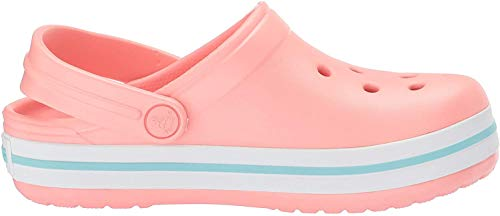 crocs Unisex-Kinder Crocband K Clogs, Pink (Melon-Ice Blue), 25/26 EU