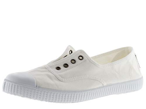 victoria - Inglesa Elastico Tenido Punt, Sneakers da donna, Bianco (Blanc (Blanco)), 42