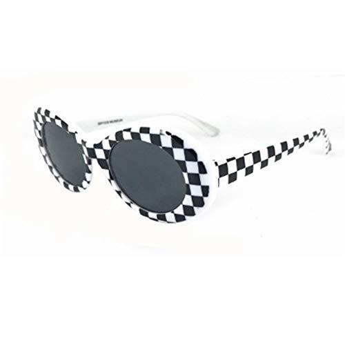 SLAKF Gafas duraderas Moda Las Gafas de Sol Claro Transparente de Gafas de Lentes óvalo de la Vendimia Gafas clásico de la Manera Gafas de Sol (Color : B)