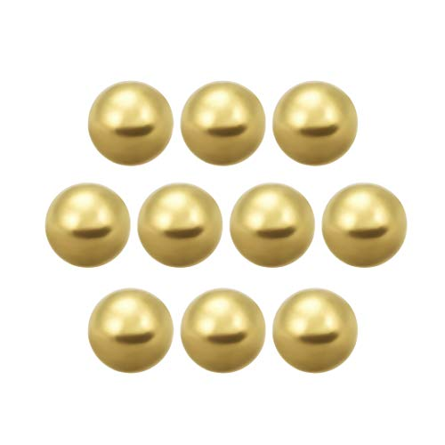 uxcell 1/2-inch Precision Solid Brass Bearing Balls 10pcs