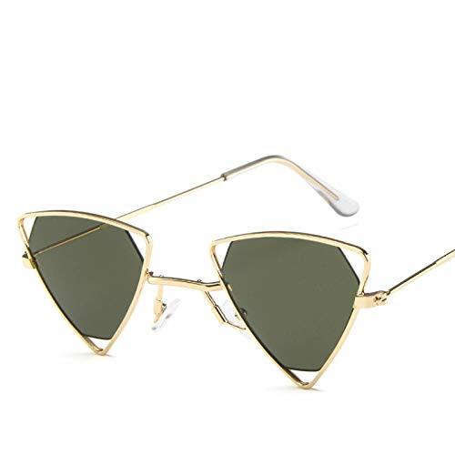 Astemdhj Gafas de Sol Sunglasses Gafas De Sol Triangulares para Mujer Diseño Vintage Marca De Coche De Lujo Lente Roja Gafas De Sol Sombras para Mujer Moda Retro VAnti-UV