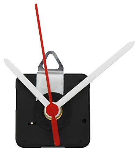 MC POWER - Quarzuhrwerk | CQ-5001 | inkl. 1x Kunststoff-Zeigersatz, springend | flexibel einsetzbar. kann vorhandes Uhrwerk ersetzen oder für die kreative Gestaltung eigener Ziffernblätter verwendet werden | ideal zum basteln