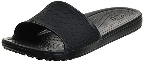 Crocs Sloane Snake Low Slide, Sandali a Ciabatta Donna, Nero, 39/40 EU