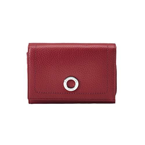 LAMARTHE PARIS - Elegantes Designer Damen Portemonnaie, Echtleder Geldbeutel für Frauen, mit viel Platz für Karten, Rot