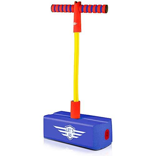 SOKY Spielzeug ab 3-8 Jahre Junge, Pogo Stick für Kinder ab 3-8 Jahre Mädchen Geschenke Spielzeug für Draußen 3-8 Jahre Junge Gartenspiele für Kinder Geburtstagsgeschenk Mädchen 4 5 6 7 8 Jahre