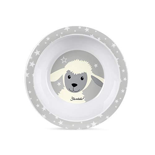 Sterntaler Bol Bébé Mouton Stanley, Âge : Pour Bébés de 6 Mois et plus, Blanc/Gris