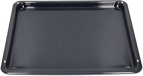 Electrolux 353193921/7 - Teglia da forno, dimensioni (L x l x A) 422 x 370 x 20 mm, colore: Nero