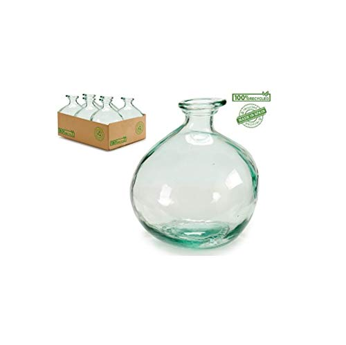 takestop® Recycled Milieuvriendelijk Glazen Kruik 16x16x18cm voor Wijnwafel Penseel Thuis Keuken